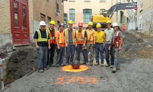The construction workers who discovered the ball.