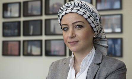 Zaina Erhaim, winner of a freedom of expression award.