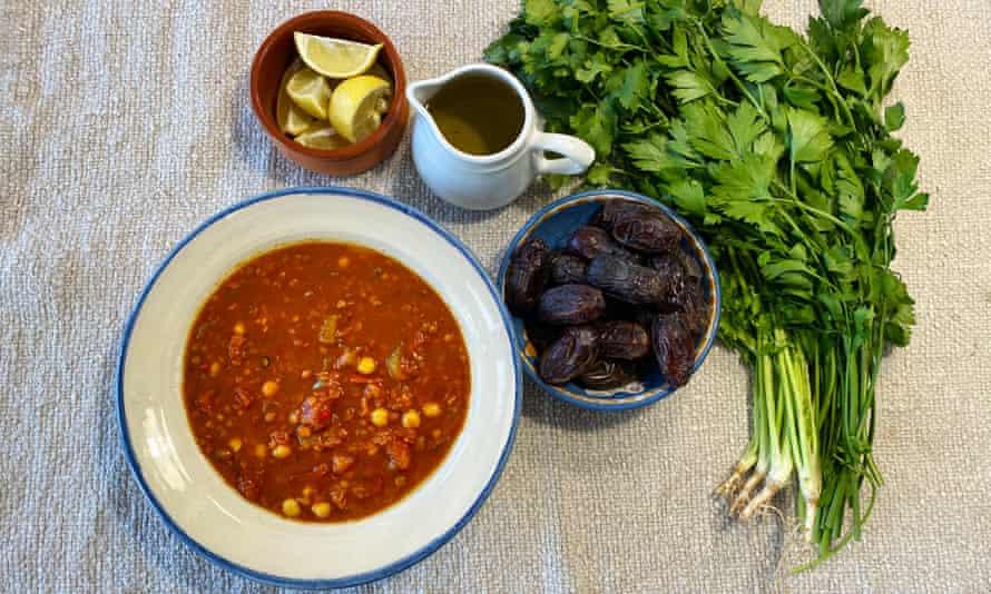 'Jane Jeffes' storecupboard Harira Soup, Recipes for Ramadan'