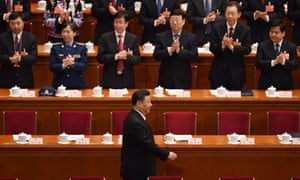 Xi Jinping in Beijing on Saturday. 'A leader loved and respected by the people.'