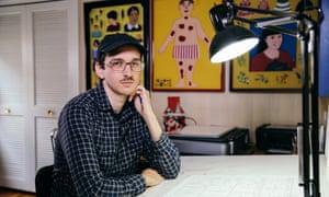 Nick Drnaso in his Chicago studio.