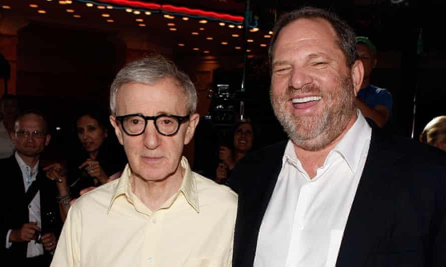 Woody Allen, left, and Harvey Weinstein.