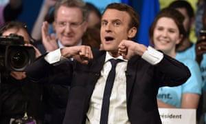 Emmanuel Macron campaigning in Nantes.