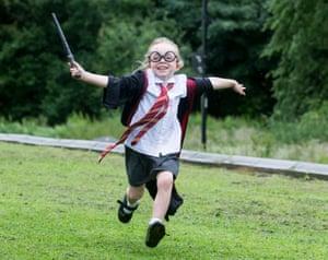 Alice Burns in Harry Potter gear