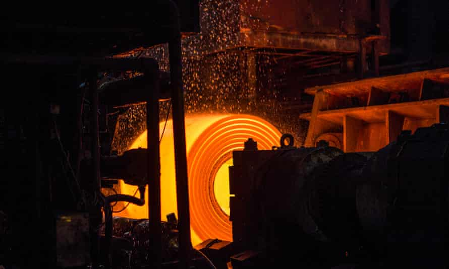 Hot coil rolling at Port Talbot