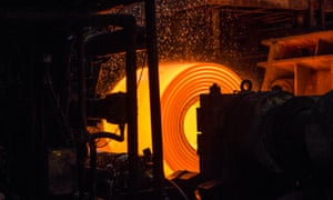 Steel being made at Tata's plant in Port Talbot