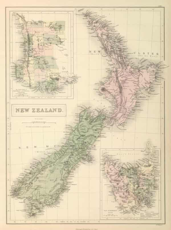 A map of Aotearoa New Zealand dating from 1854.
