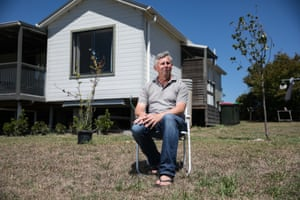 Ian Jackson on his property