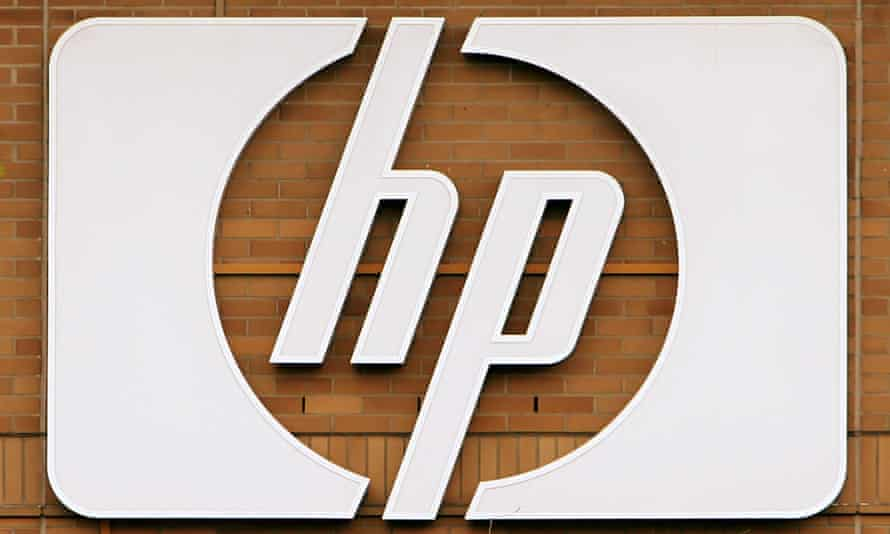 The logo of computer and printer maker Hewlett-Packard is seen on the German headquarters of this U.S. company in Boeblingen near Stuttgart, southwestern Germany