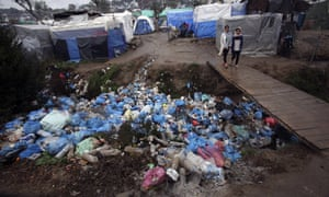 20,000 people are currently living in and around Moria refugee camp on Lesbos.