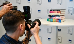 photographers at the announcement of the shortlist for the Man Booker Prize 2018.