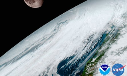 This NOAA/NASA image released January 23, 2017, shows the release of the first image from NOAAs newest satellite, GOES-16, in the latest step in a new age of weather satellites.