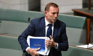 Tony Abbott leaves the House of Representatives