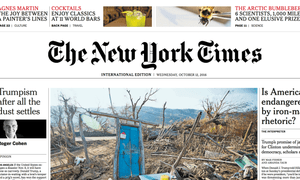 Wednesday's new-look New York Times International Edition.