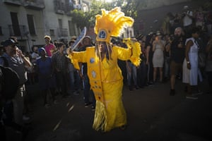 The Queen of the Guardians of the Flame, Cherice Harrison-Nelson from New Orleans, throws shapes