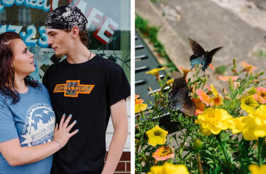 Left: Melinda and Michael, Webster Springs, West Virginia Right: Butterflies, Webster Springs, West Virginia