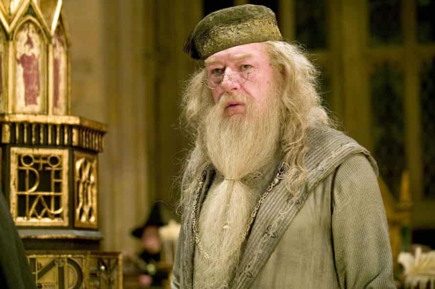 Michael Gambon as Dumbledore.