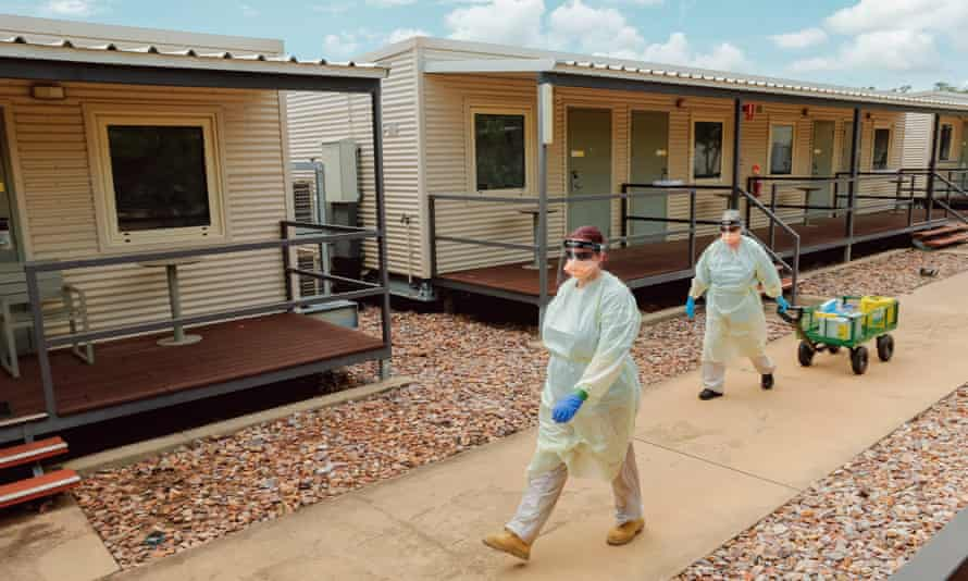 Staff at the Howard Springs quarantine facility in Darwin, Australia