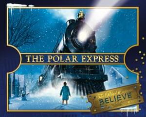 The Polar Express tram ride at Seaton Tramway, Devon.