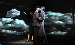 Tristan Sturrock, left, and Naomi Frederick in Emma Rice's production of Brief Encounter at Cineworld Haymarket, London, in 2008