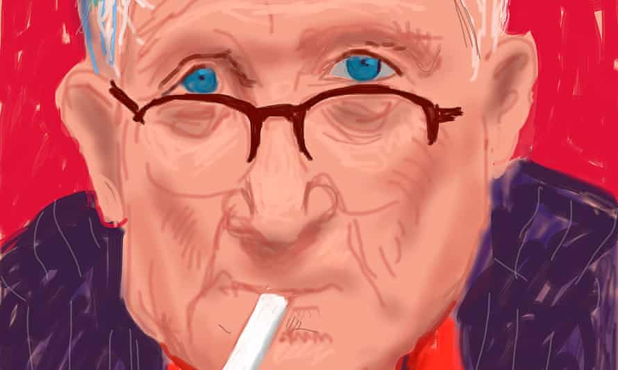 A 2012 self-portrait made on the iPad by David Hockney is among 700 works by the British artist touring Australia.