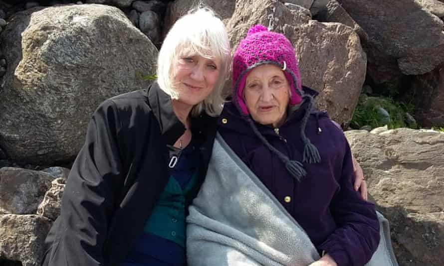 Ylenia Angeli, left, with her mother, Tina Thornborough, in Shetland in summer 2018.