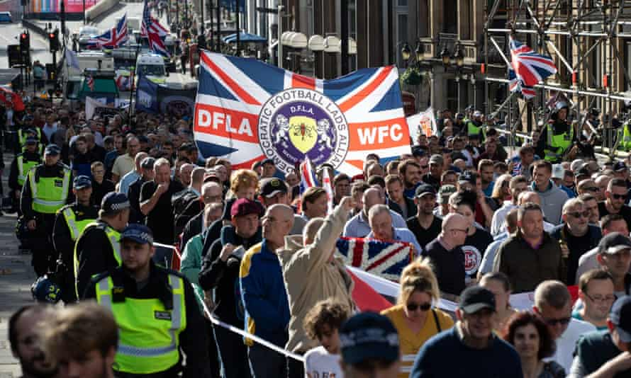 The Democratic Football Lads Alliance march in London in October 2018.