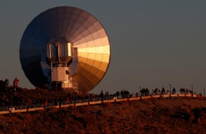 People watch the solar eclipse near ESO Observatory at Coquimbo, Chile.