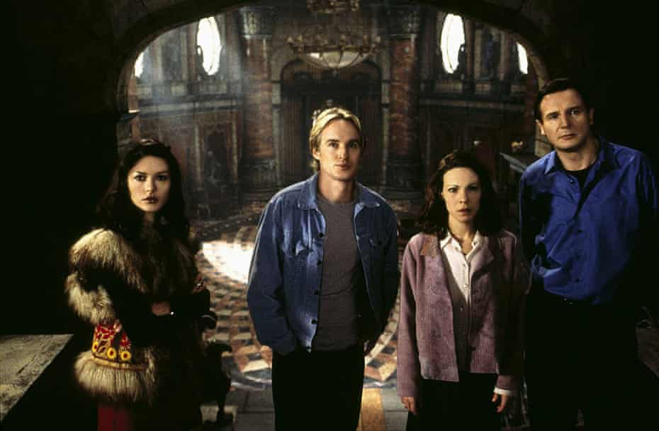 Catherine Zeta-Jones, Owen Wilson, Lili Taylor and Liam Neeson in The Haunting, a 1999 adaptation of The Haunting of Hill House.