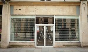 Empty high street shop