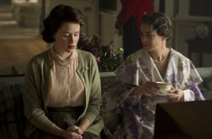 with Claire Foy in The Crown.