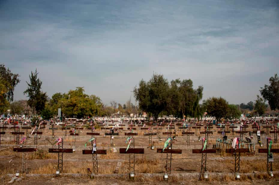 Graves in the Patio 29 zone, at the general cemetery of Santiago, where people who disappeared during the Pinochet dictatorship were buried without being identified