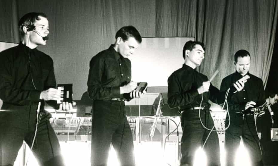 Kraftwerk playing in Brussels in 1981