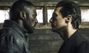 With Idris Elba in The Dark Tower.
