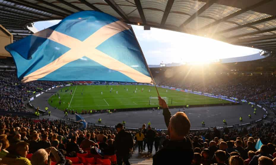 The Euro 2020 qualifier between Scotland and Cyprus at Hampden Park