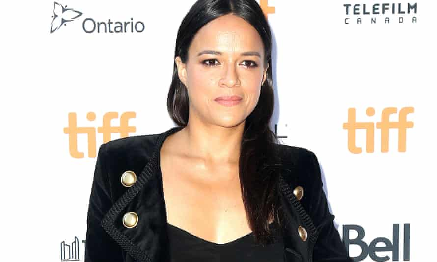 Michelle Rodriguez attends the (Re)Assignment' premiere at Toronto international film festival, Canada.
