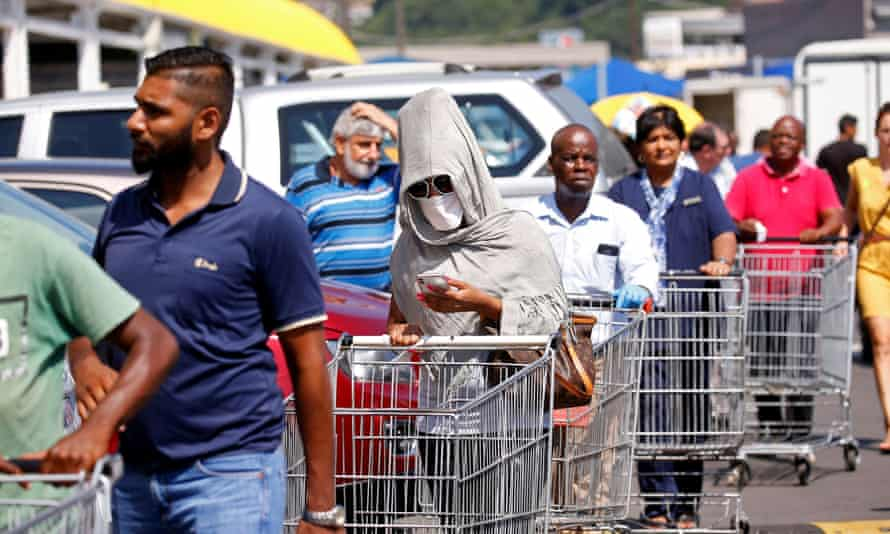 There has been widespread panic buying in South African since the lockdown was announced