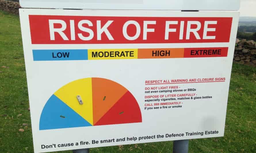 A warning sign on Lizzie's Pentland Hills walk