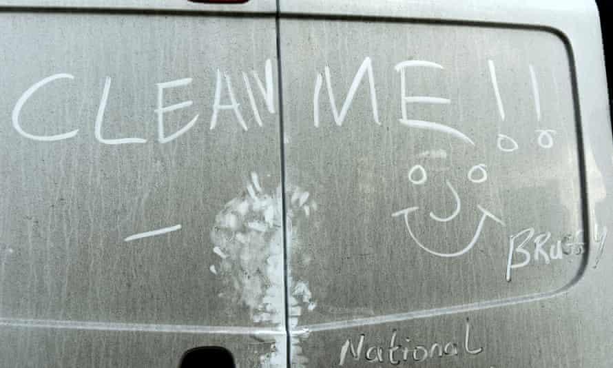 Dirty white van
