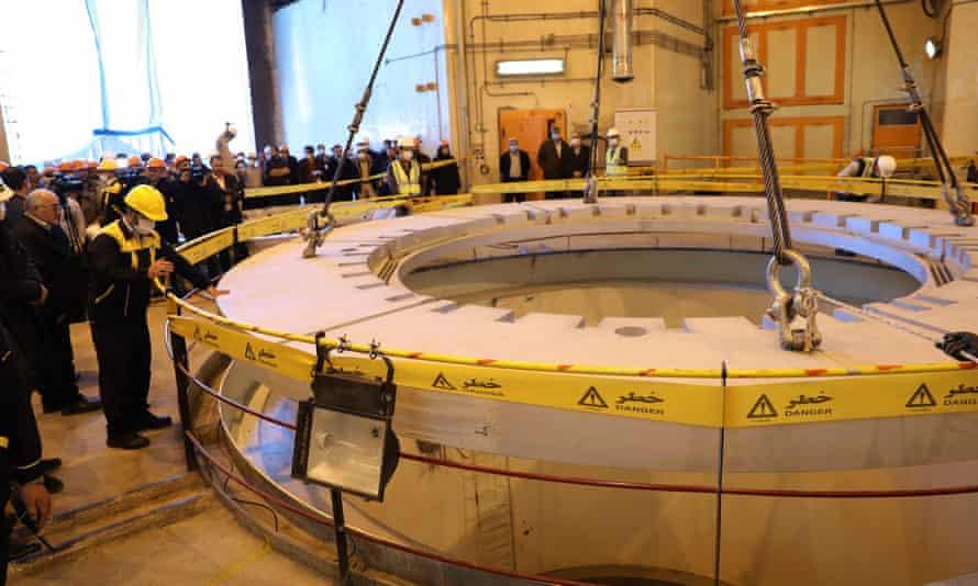 The heavy water reactor at Arak in December last year
