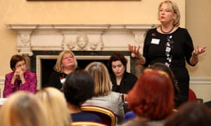 Jayne-Anne Gadhia, chief executive of Virgin Money, speaks during a panel discussion.