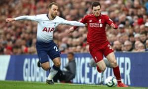 Andy Robertson, Liverpool v Tottenham