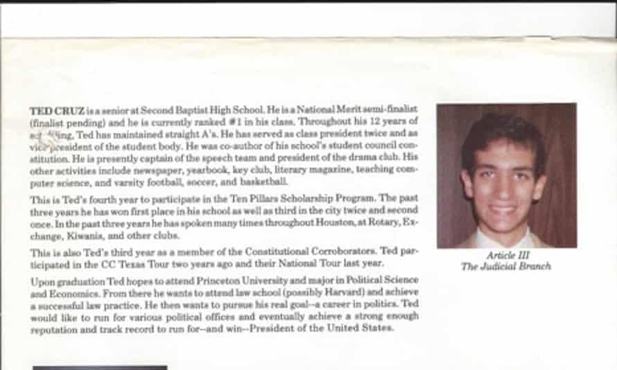 Ted Cruz Yearbook