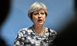 Britain's Prime Minister Theresa May attends a press conference after the G20 Summit in Hamburg, Germany, July 8, 2017. / AFP PHOTO / John MACDOUGALLJOHN MACDOUGALL/AFP/Getty Images