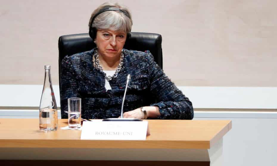Theresa May: Strong and stable. Whirr. I don't think I'm in the least. Clang. Robotic.