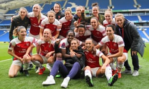 Arsenal have won the WSL after beating Brighton 4-0 at the Amex Stadium.