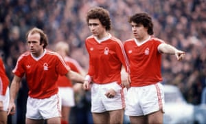 Archie Gemmill, left, Martin O'Neill and John Robertson line up together for Nottingham Forest.