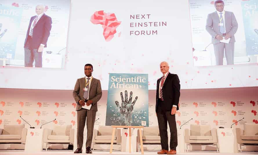The launch of Scientific African at the Next Einstein Forum's conference, in Kigali, on 26 March 2018.