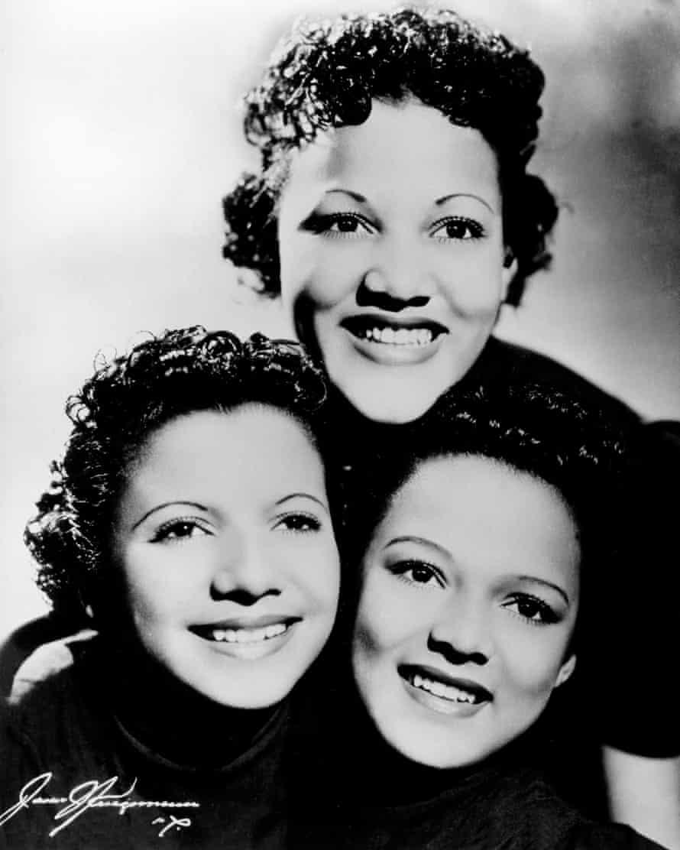 Top acts … the Dandridge Sisters.