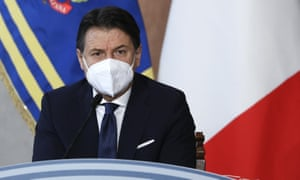Italian prime minister Giuseppe Conte during the year-end press conference on Wednesday.